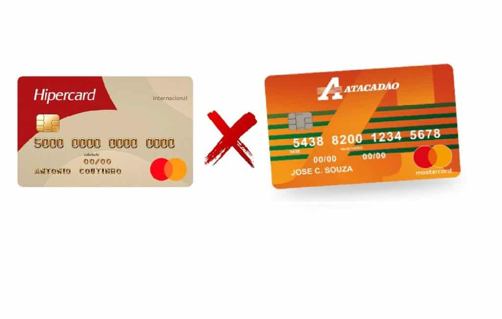 cartão de crédito Hipercard ou Atacadão