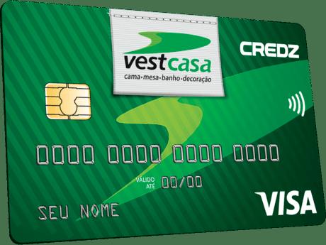 solicitar o cartão de crédito vestcasa